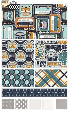 Keep On Groovin'  fabric line by Sugar Sisters Design for Riley Blake Designs—Subscribe to our newsletter at http://www.rileyblakedesigns.com/newsletter/