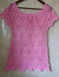 blusa piñas con Canesu rectangular parte 1