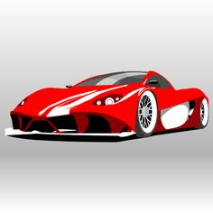 Ferrari Aurea Berlinetta. Free vector illustration