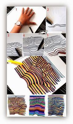 Enredándome XIII: 10 ideas para jugar con ilusiones ópticas ~ Manzanaterapia
