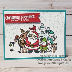 Christmas Crowd stamp set from the 2019 Holiday Catalogue by Stampin' Up! Stampin Up Christmas, Christmas Cards To Make, Christmas Love, Christmas Greeting Cards, Christmas Greetings, Christmas Themes, Christmas 2019, Stampin Up Cards, Birthday Cards