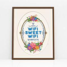 WiFi Sweet WiFi Customisable Cross Stitch Pattern by Stitchrovia