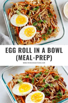 Egg roll in a bowl is a great way to get those delicious Asian flavors in an easy-to-make meal. Make this recipe for dinner or meal prep lunches! Quick Healthy Meals, Healthy Eating, Healthy Recipes, Weekly Meal Prep Healthy, Weekly Menu, Clean Recipes, Lunch Recipes, Budget Recipes, Chili Recipes