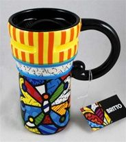 BRITTO Butterfly Travel Mug