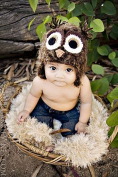 Would so not pay $50, I am ure thiscould easilybe made! 2T4T brown fuzzy owl hat with earflaps by maddieloubeanies on Etsy, $50.00