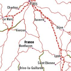 Rail Map of France with French Destinations you can reach by Train