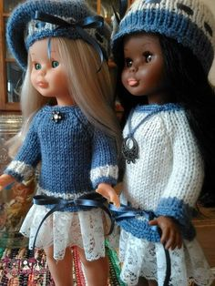 Knitting Dolls Clothes, Doll Clothes, Vestidos Nancy, Nancy Doll, Pretty Dolls, Couture, Crochet Hats, Glamour, Diy