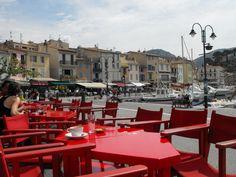 sitting at Monsieur Le Brun, Cassis, France