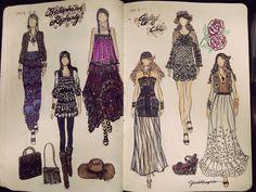 I want one ,soooooo bad!!!  fashionary sketches