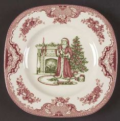 Your Favorite Brands Cookies for Santa Square Accent Salad Plate