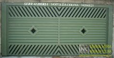 Portões de Chapa Onduladas - Serralheria Noiva da Colina