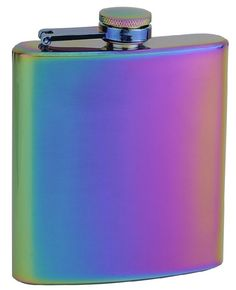 """Top Shelf Flasks Rainbow Colored """"Unicorn"""" Hip Flask, 6 oz Made by top shelf flasks using proprietary process stainless steel in rainbow colors Laser welded seams and leak tested for quality assurance Individually packaged in solid black gift box Last Minute Christmas Gifts, Last Minute Gifts, Home Design, Top Gifts, Best Gifts, Best Bridal Shower Gift, Gift Finder, Wine Tasting, Rainbow Colors"""