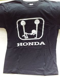 Funny MENS printed honda TSHIRT BlackCotton by handmade4everyone, $16.99