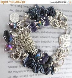 ON SALE bracelet black spinel bracelet amethyst by soulfuledges