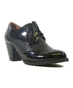 Look what I found on #zulily! Black Lux Oxford Bootie #zulilyfinds