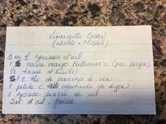 Vinaigrette ceasar Michel et Nicole