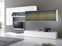 Modern Wall Unit Exential Art Carnevali 01 by Spar - $6,099.00