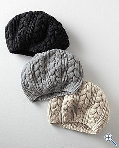 Easy Cable-Knit Hat.