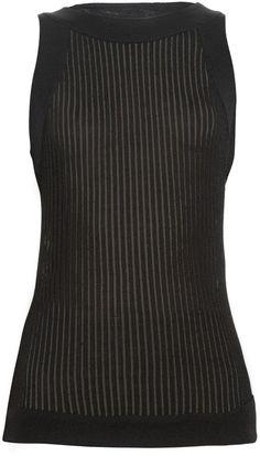 BALMAIN Ribbed-knit tank top