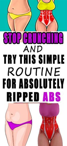 Stop crunching and try this simple routine for absolutely ripped abs!