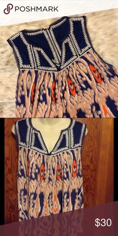 Meadow Rue Watercolor Print Top EUC. This top from Anthro is great and looks even better on. Anthropologie Tops