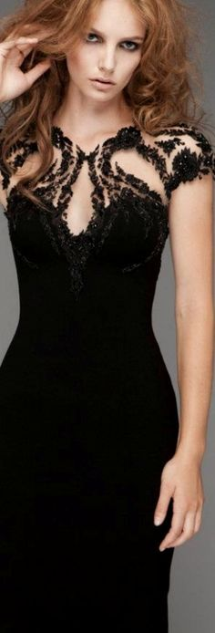 #Pavoni black dress