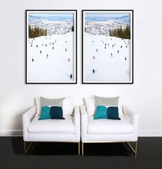 Top of Snowmass Diptych