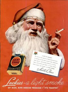 Vintage Advert - Lucky Strike Cigarettes 1936 - Christmas Santa Claus by CharmaineZoe, via Flickr