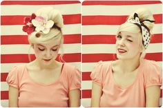 the girl never gets older: high ponytail, roll around fingers to head, pin in place, pull down sides and pin, add something pretty!