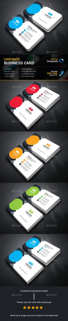 Business Card — Photoshop PSD #green #black • Available here → https://graphicriver.net/item/business-card/14917637?ref=pxcr