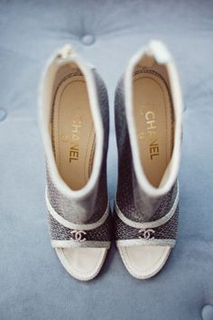 Chanel - our roundup of fabulous unconventional shoes for you to wear on your wedding day.