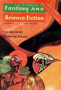 The Magazine of Fantasy and Science Fiction, March 1973, cover by Leo and Diane Dillon