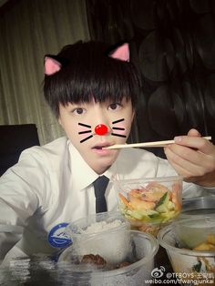 Karry Weibo update translation : Food is extraordinarily delicious expecially when you are hungry, Meow~ #王俊凯 #王俊凱 #TFBOYS王俊凯 #TFBOYS王俊凱 #TFBOYS #KarryWang #WangJunkai #ワンジュンカイ#왕준개 #왕준카이#TuấnKhải #VươngTuấnKhải #KarryWangUSAFan