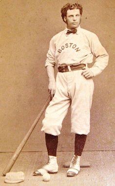 Salón de la Fama George Wright, quien jugó para los Medias Rojas de Boston a principios de los años 1870.