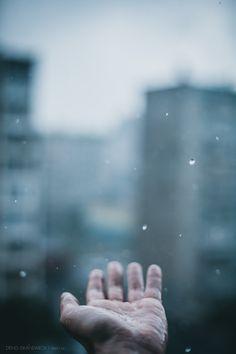 hand rainy day rain