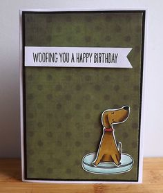 Birthday card for dog lovers  hand coloured dog on by MaudieMaudie