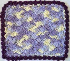 Best Free Crochet » #191 Purple Crochet Dishcloth – Maggie Weldon Maggies Crochet