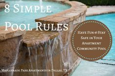 8 Simple Pool Rules to Stay Safe & Have Fun in your Apartment Community #Pool: http://apt.gd/1j7WzNN #summer
