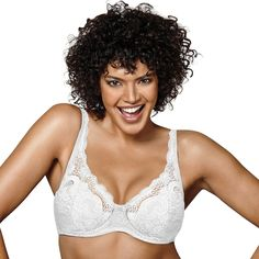 Playtex Bras: Love My Curves Beautiful Lift Lightly Lined Full-Figure Underwire Bra US4514, Women's, Size: 38 D, White Oth