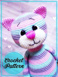 Crochet Zebra Pattern, Doll Amigurumi Free Pattern, Crochet Coaster Pattern, Crochet Amigurumi Free Patterns, Crochet Animal Patterns, Stuffed Animal Patterns, Amigurumi Doll, Gato Crochet, Crochet Animal Amigurumi