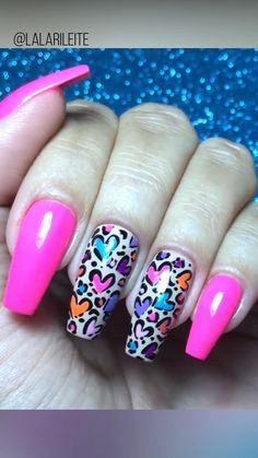 New Nail Art Design, Nail Design Video, Creative Nail Designs, Simple Nail Art Designs, Creative Nails, Neon Nails, Diy Nails, Cute Nails, Pretty Nails