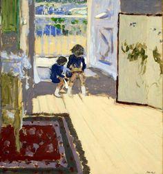 "huariqueje: "" Children in the Room - Edouard Vuillard, 1909 French Gouache on paper pasted on canvas, x cm "" Edouard Vuillard, Gouache Painting, Painting & Drawing, Art Quotidien, Anime Comics, Avant Garde Artists, Pierre Bonnard, Hermitage Museum, Post Impressionism"