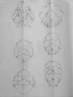 Yönlü Hatailer Flower Henna, Flower Logo, Flower Art, Amazing Drawings, Art Drawings, Zentangle, Arabesque, Graffiti, Stencil Printing