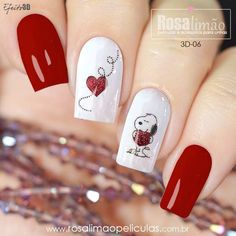 65 Happy Valentines Day Nails For Your Romantic Day 65 Happy Valentines Day Nails For Your Romantic Day,nail art nails art nails acrylic nails nails Heart Nail Art, Heart Nails, Red Nail Art, Pink Nails, Red Art, Glitter Nails, Cute Nails, Pretty Nails, Snoopy Nails