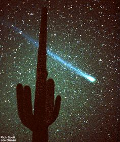 Comet Hale Bopp as seen from the southwest Sonoran Desert.
