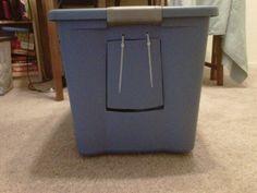 home made cat litter box :)