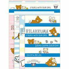 San-x Rilakkuma Letter set (blue) ★ Shima Shima everyday ★