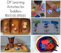 Montessori Nature: DIY Learning Activities for Toddlers. Montessori Approach.