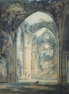 Joseph Mallord William Turner, 'Transept of Tintern Abbey, Monmouthshire' ?exhibited 1795