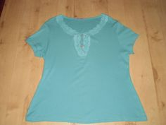 M&S Pretty JADE Embroidery SUMMER HOLIDAY TUNIC TOP Size 14